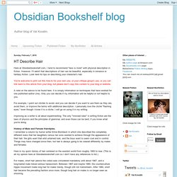 Obsidian Bookshelf blog: HT Describe Hair