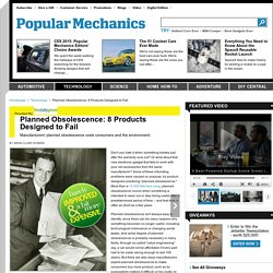 Planned Obsolescence - Products Designed to Fail