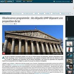 Obsolescence programmée : des députés UMP déposent une proposition de loi