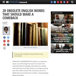 20 Obsolete English Words that Should Make a Comeback - StumbleUpon