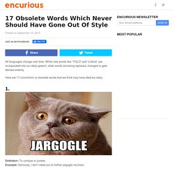 17 Obsolete Words Which Never Should Have Gone Out Of Style