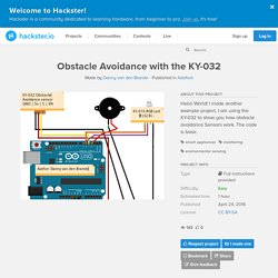 Obstacle Avoidance with the KY-032