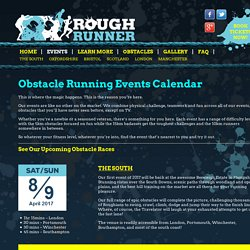 Obstacle Running Events Calendar - Rough Runner