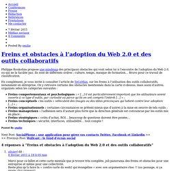 Freins et obstacles à l'adoption du Web 2.0 et des outils collaboratifs