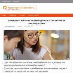 Obstacles au développement du coaching scolaire