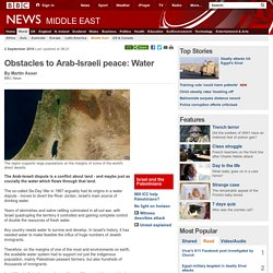 Obstacles to Arab-Israeli peace: Water