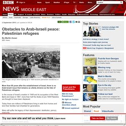 Obstacles to Arab-Israeli peace: Palestinian refugees