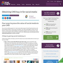 Obtaining CMO buy-in for social media