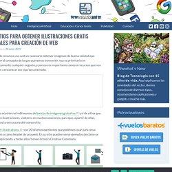 6 sitios para obtener ilustraciones gratis ideales para creación de web