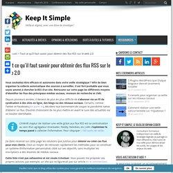 Obtenez des flux RSS sur les réseaux sociaux et le web 2.0