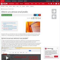 Obtenir une adresse email jetable