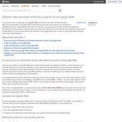 Obtenir des données externes à partir d'une page Web