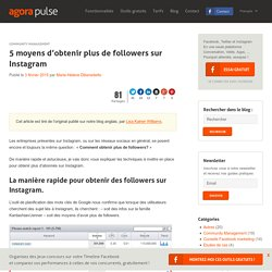5 moyens d'obtenir plus de followers sur Instagram