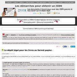 Obtenir un ISBN gratuitement et le dépôt légal de livre