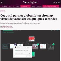 Cet outil permet d'obtenir un sitemap visuel de votre site en quelques secondes