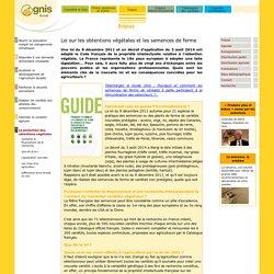 GNIS – FEV 2012 - Guide Gnis de la Loi sur les obtentions végétales et les semences de ferme…