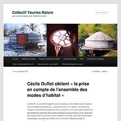 Cécile Duflot obtient «la prise en compte de l'ensemble des modes d'habitat»