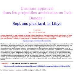 obus a uranium appauvri