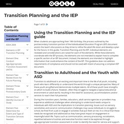 Transition Planning and the IEP