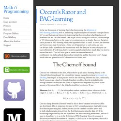 Occam's Razor and PAC-learning