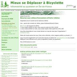 Bourse aux vélos à Paris 14ème - Mieux se Déplacer à Bicyclette