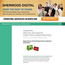 Printing Services at Sherwood Copy – Watline Location