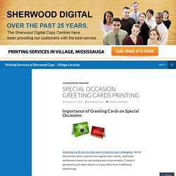 Printing Services at Sherwood Copy – Village Location