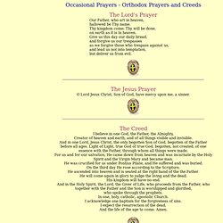 Occasional Prayers - OrthodoxNet.com - Orthodox Prayers