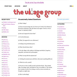 The Ullage Group — The Air at the Top of the Bottle