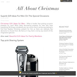Genuine Men Gift Ideas For Christmas