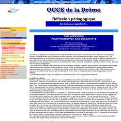 OCCE 26 - Moments philo / Cinq approches
