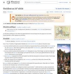 Occident au XIesiècle