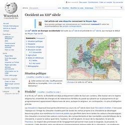Occident au XIIIesiècle