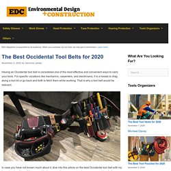 12 Best Occidental Tool Belts Reviewed and Rated in 2020