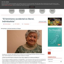 """El feminismo occidental es liberal, individualista"""