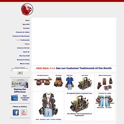 Occidental Leather: American Made Tool Belts, Bags and Vests