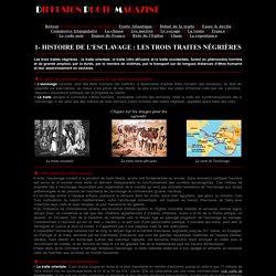 Histoire de l'esclavage - Les trois traites n gri res : orientale, inter-africaine et occidentale (ou atlantique)