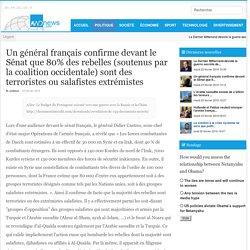 Un général français confirme devant le Sénat que 80% des rebelles (soutenus par la coalition occidentale) sont des terroristes ou salafistes extrémistes