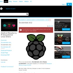 Adafruit Raspberry Pi Educational Linux Distro
