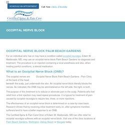 Occipital Nerve Block Palm Beach Gardens