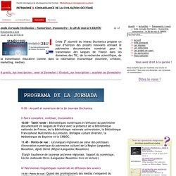 2nda Jornada Occitanica - Numerizar, transmetre - lo 28 de mai al CIRDÒC