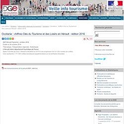 Occitanie : chiffres Clés du Tourisme et des Loisirs en Hérault - édition 2016