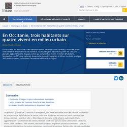En Occitanie, troishabitants sur quatre vivent en milieu urbain - Insee Flash Occitanie - 101