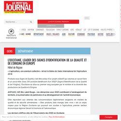LE PETIT JOURNAL 25/02/18 L'OCCITANIE, LEADER DES SIGNES D'IDENTIFICATION DE LA QUALITÉ ET DE L'ORIGINE EN EUROPE
