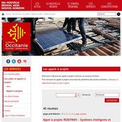 Les appels à projets - Les services - Région Occitanie / Pyrénées-Méditerranée