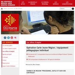 Les offres d'emploi - Les services - Région Occitanie / Pyrénées-Méditerranée