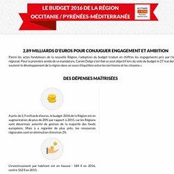 Le budget primitif 2016 de la Région Occitanie / Pyrénées-Méditerranées