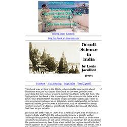 Occult Science in India Index