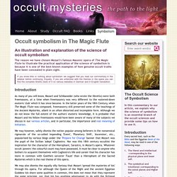 Occult symbolism in The Magic Flute