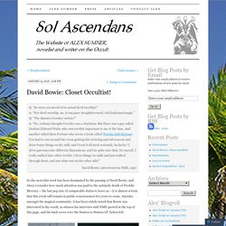 Sol Ascendans - The Website of Alex Sumner